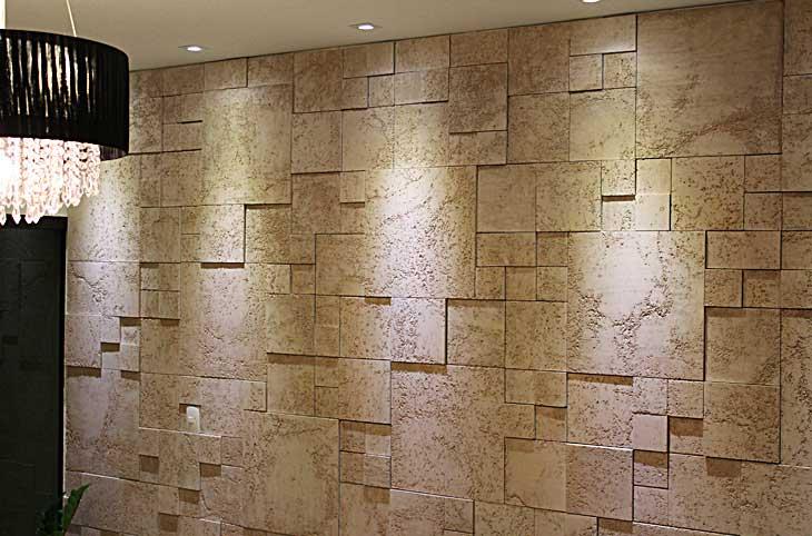 Modernidade e sofistica o em alta paredes revestidas em for Revestir paredes interiores